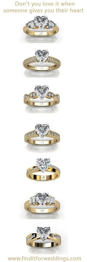 heart shaped diamond rings